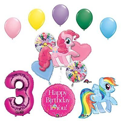 My Little Pony Pinkie Pie and Rainbow Dash 3rd Birthday Party Supplies   - Rainbow Dash Party Supplies