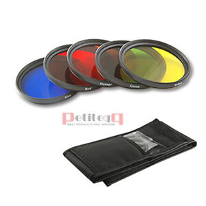 58mm-Blue-Yellow-Orange-Red-Green-Color-filter-fr