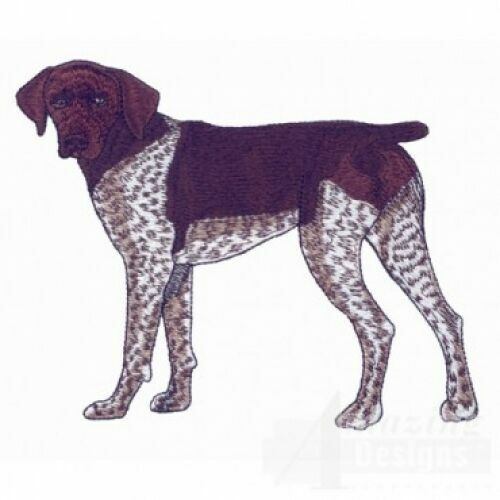 Embroidered Short-Sleeved T-Shirt - German Shorthaired Pointer AD212