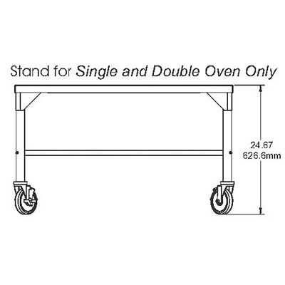 Stand For Middleby Marshall Singledouble Stack Countertop Conveyor Ovens
