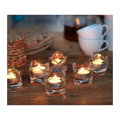 New IKEA Clear Glass Candle Holders -- Votive Candle or Tealight - - Glass Votive Holders