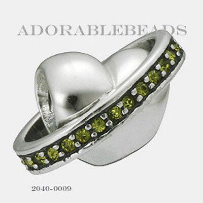 Authentic Chamilia Siena Collection Silver Dolce Vita Verde Bead 2040-0009