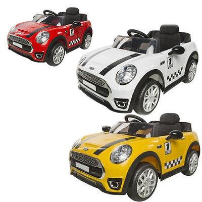 Auto elettrica mini cooper 12v per bambini telecomando e mp3 macchina automobile