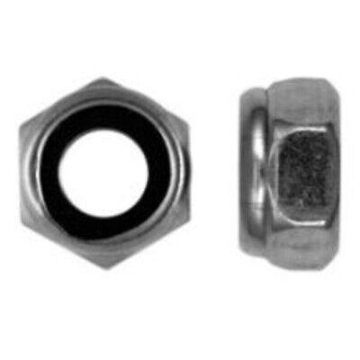 50 x E-NORM Sechskantmuttern DIN 985//M12-A2 Kleinpack VE50