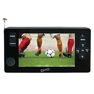 """Supersonic[r] Sc-143 4.3"""" Portable Digital Tv With Usb &;micro Sd Inputs (sc143)"""