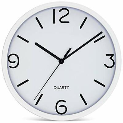 Decorative Wall Clocks Battery Operated Non Ticking 8 Inch S