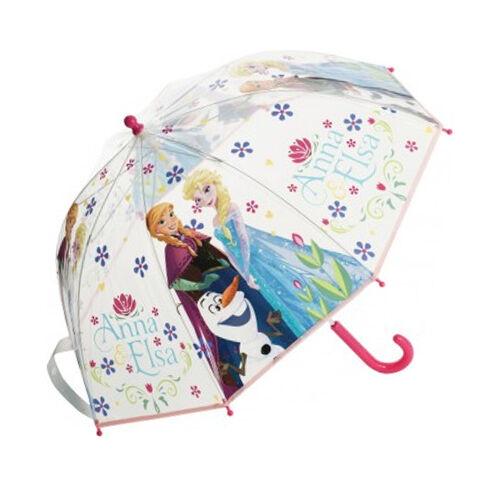 Disney Deluxe Frozen Anna and Elsa Umbrella Clear Rain.