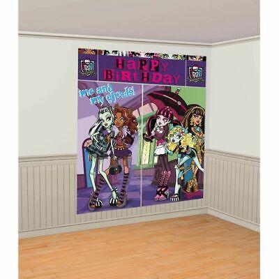 Monster High Party Decor (Monster High Wall Decorating Kit Scene Setter 5 Piece)