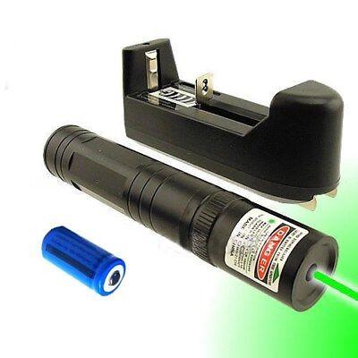 Portable Green Laser Pointer - 50Miles Portable Burning Green Laser Pen Beam 532nm Pet Toy+16340 Batt+Charger