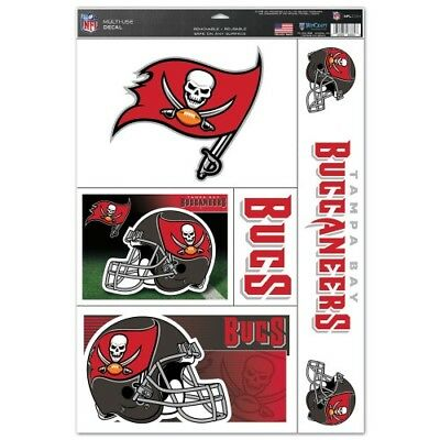 TAMPA BAY BUCCANEERS 5 PIECE MULTI-USE DECALS 11