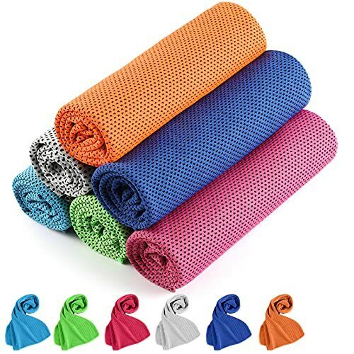 Cooling Towel, Cooling Towels for Neck 6 Pack, Golf Cooling 6 Pack Multi Colors