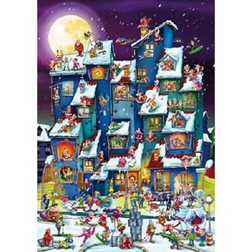 D-Toys 1000 Piece Puzzle - Cartoon Collection Christmas Mess