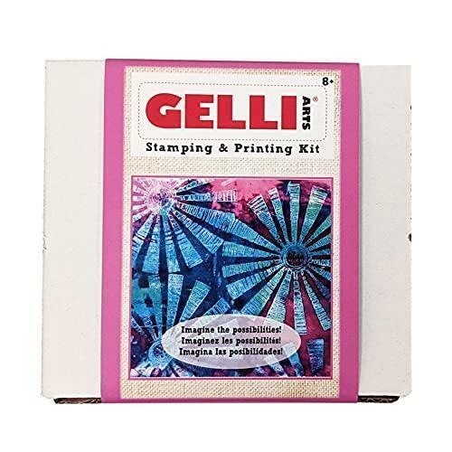 Gelli Arts Stamping and Printing Kit, 19 x 16.5 x 11.5 cm, Multi-Colour