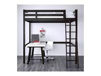 Ikea STORA double loft bed and memory foam mattress if wanted.