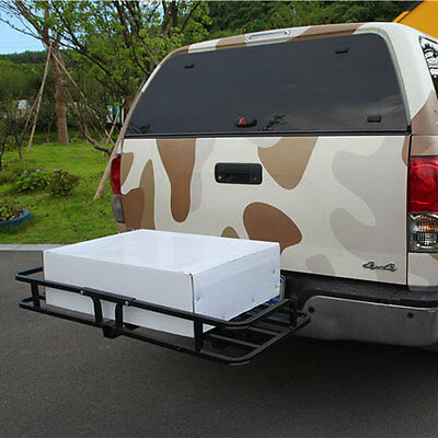 Cargo Carrier Rack Luggage Basket Receiver Hitch Mount Trailer Car SUV Truck
