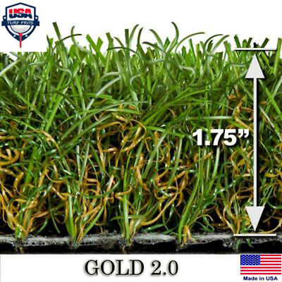 "Gold 2.0 Synthetic Landscape Fake Grass Artificial Pet Turf Lawn 6"" x 6"" Sample"