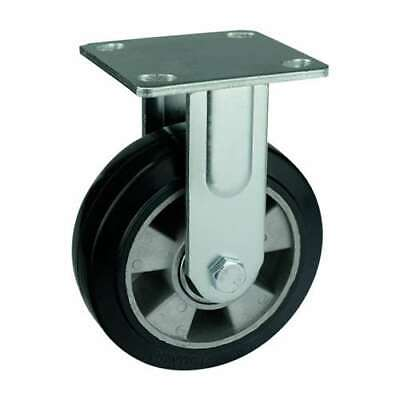 6 Inch Caster Wheel 551 Pounds Fixed Aluminum Core And Rubber Top Plate