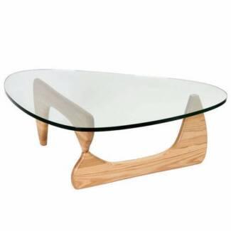 Used Ovela Noguchi Replica Glass Coffee Table (Natural)
