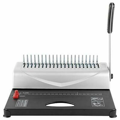 New 21-hole 450 Sheets Paper Comb Punch Binder Binding Machine Scrapbook Us