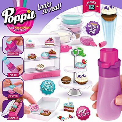 Poppit Mini Cupcakes Starter Pack Molding Clay Creations Kids Craft Kits  S1 (Kids Mini Cupcake Kit)