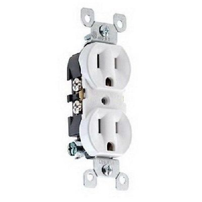 Leviton 5320-WCP 15A 125V NEW Electrical Duplex Receptacle Outlet WHITE