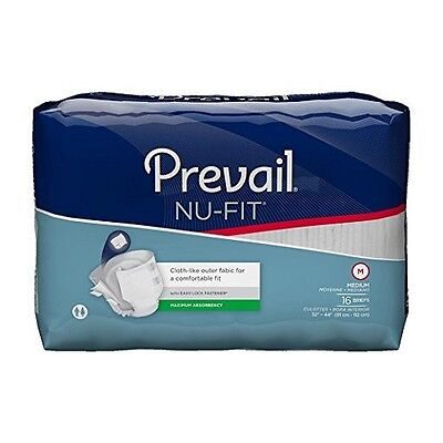 First Quality Nu-Fit Adult Brief Diaper, MEDIUM, Extra Abs., NU-012 - Case of 96 ()