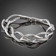 18K White Gold Plated Bracelet