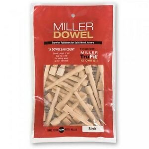 Miller-1X-Standard-Dowels-40-pack-Birch-Oak-Cherry-Walnut-1X-Range