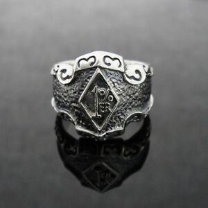Silver 1% ER Outlaw Crazy Ring for Harley Davidson Hell Angels 81 Biker TR165