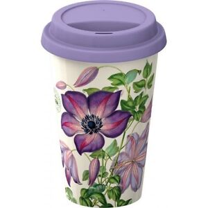 Royal Botanic Gardens KEW Garden Delights - ECO CUP Travel MUG - CLEMATIS Purple