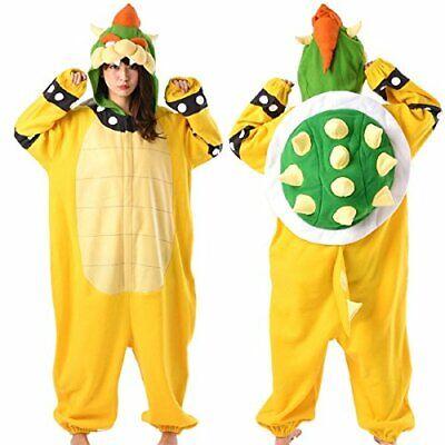 SAZAC Super Mario Brothers Bowser King Koopa Fleece Costume Unisex Adult F/S New