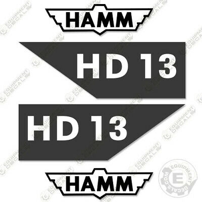 Hamm Hd13 Vibratory Smooth Drum Roller Decal Kit Hd 13 Decals