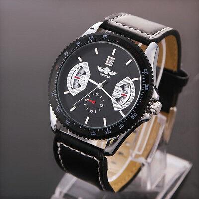Date Display (WINNER New Men's Automatic Mechanical Date Display Waterproof Sport Wrist Watch )