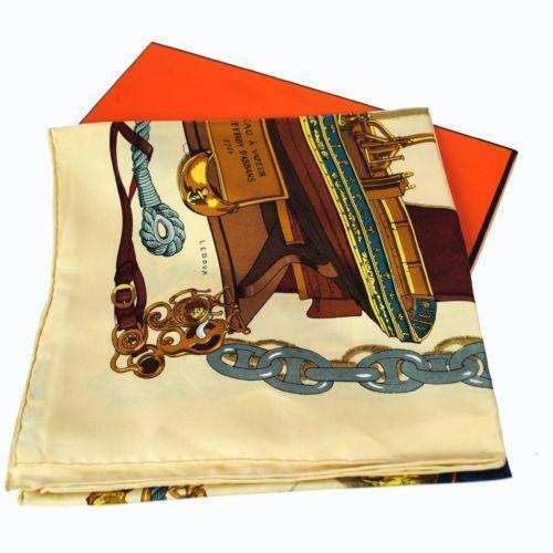 hermes silk scarf scarves shawls ebay