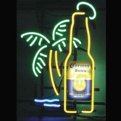 "New Corona Extra Bottle Palm Tree Neon Light Sign 17""x14"" Be"