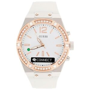 *GUESS* CONNECT 41mm Women's SMARTWATCH - WHITE/ROSE GOLD