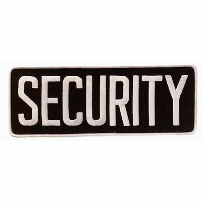 "SECURITY Large Uniform Jacket Back Patch 11"" x 4"" with 3"" High WHITE letters ..."