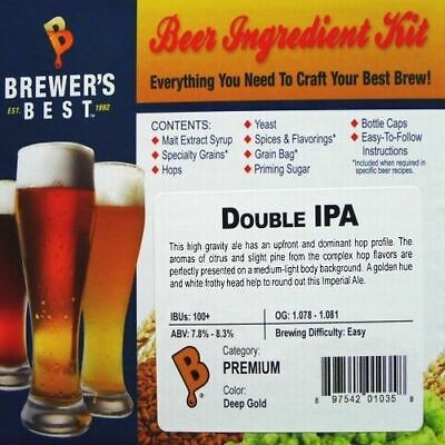 DOUBLE IPA Brewer's Best Homebrew Beer Ingredient