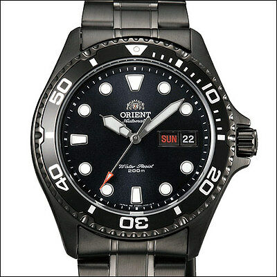 Orient Black RAY Raven II Automatic Watch, Hand Wind, Hacks #AA02003B, FAA02003B