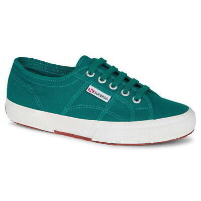 Superga 2750 Cotu Classic Womens Ladies Green Trainers Shoes Plimsolls Size 4-8