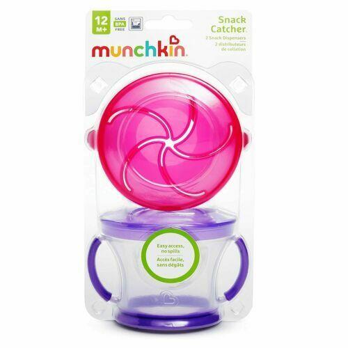 Munchkin Snack Catcher 2-Pack Pink/Purple