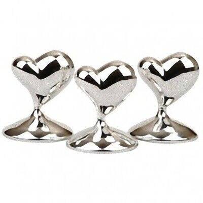 10 Silver Heart Wedding Anniversary Name Place Card Stand bomboniere Favor Table