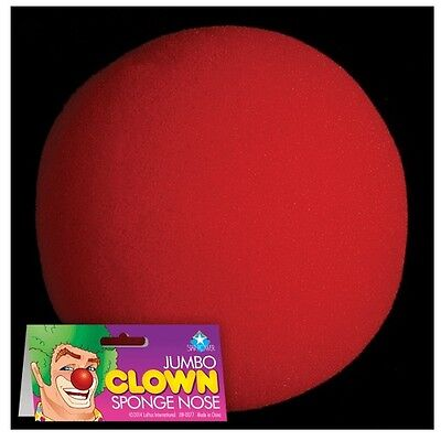 Giant Nose Costume (Jumbo 2 1/2 Inch Clown Red Nose Foam Costume Halloween Party)