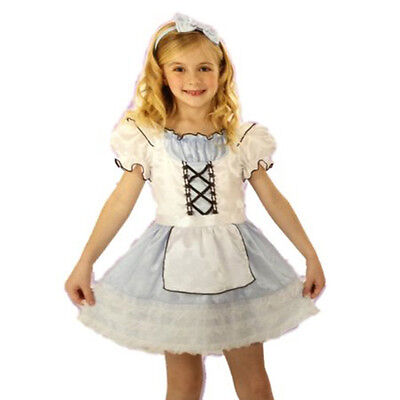 Girl's Storybook Beauty Alice Halloween Costume Choose Your Size NEW Wonderland ()