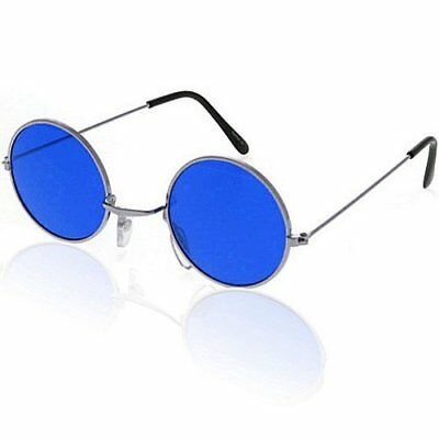 Lennon Brille (German Trendseller® - Brille John Lennon   Hippie Flower Power   Blau)