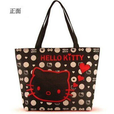 Bags Hello Kitty (Hello kitty Canvas Bag Tote Bag Purse for girls 2 colors High Quality -FREE)