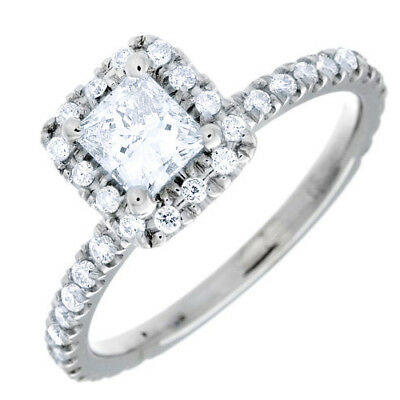 Best selling GIA certified Princess cut Diamond Engagement Ring 2.10 CTW 18K