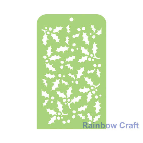 Kaisercraft Mini Designer Templates Stencils Blossom Christmas Holly Leaves - Holly Leaves