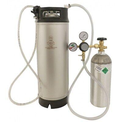 (Homebrew Kegging Kit Refurb 5 gal. Ball Lock Keg, CO2 Tank, Regulator Beer Wine)