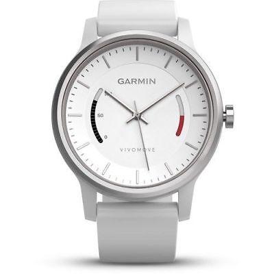 Garmin Vivomove Fitness Smart Watch Activity Tracker Smartwatch Wht 010-01597-02